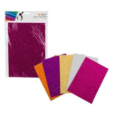 Khoki Art Supplies - Glitter Foam Sheets